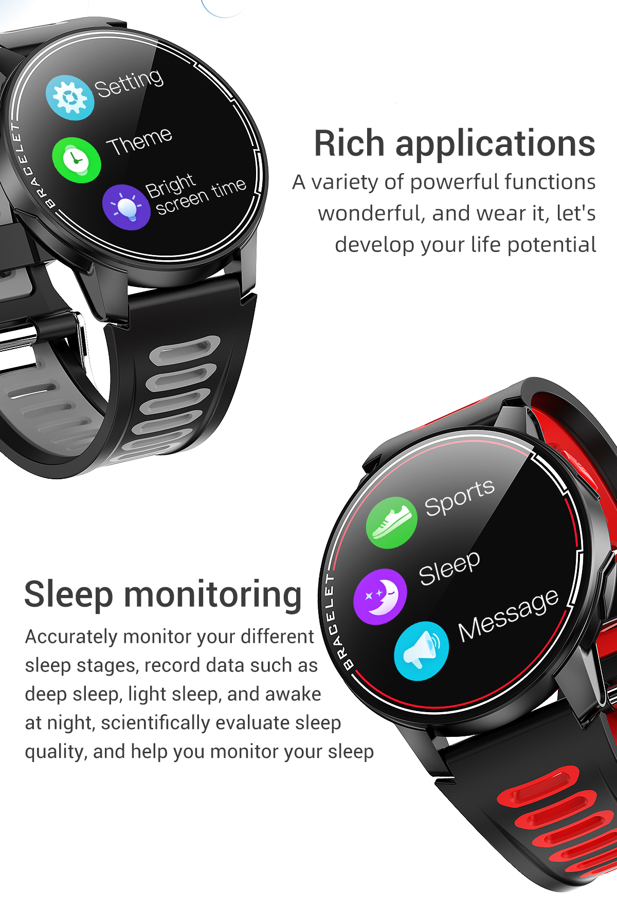 Hc038687ac3d74069bf26ac1f65dc90a6k 2020 New L6 Smart Watch IP68 Waterproof Sport Men Women Bluetooth Smartwatch Fitness Tracker Heart Rate Monitor For Android IOS