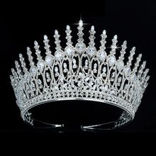 Tiaras Hair-Accessories Zircon Crown Wedding HADIYANA And Para Women BC5340 El-Cabello