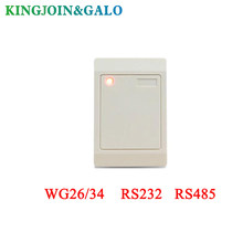 wholesale 13.56MHZ/125khz WG26/34 RS232 RS485 rfid reader Output for card access control system(China)