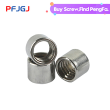цена на Peng Fa 304 Stainless Steel Extension And Thick Round Joint Nut M3 M4 M5 M6 M8 M10 Cylindrical Screw Rod Welded Round Nut