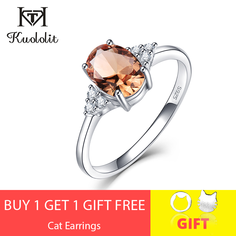 Kuololit Gemstone-Ring Jewelry Color-Change Wedding-Engagement 925-Sterling-Silver Diaspore