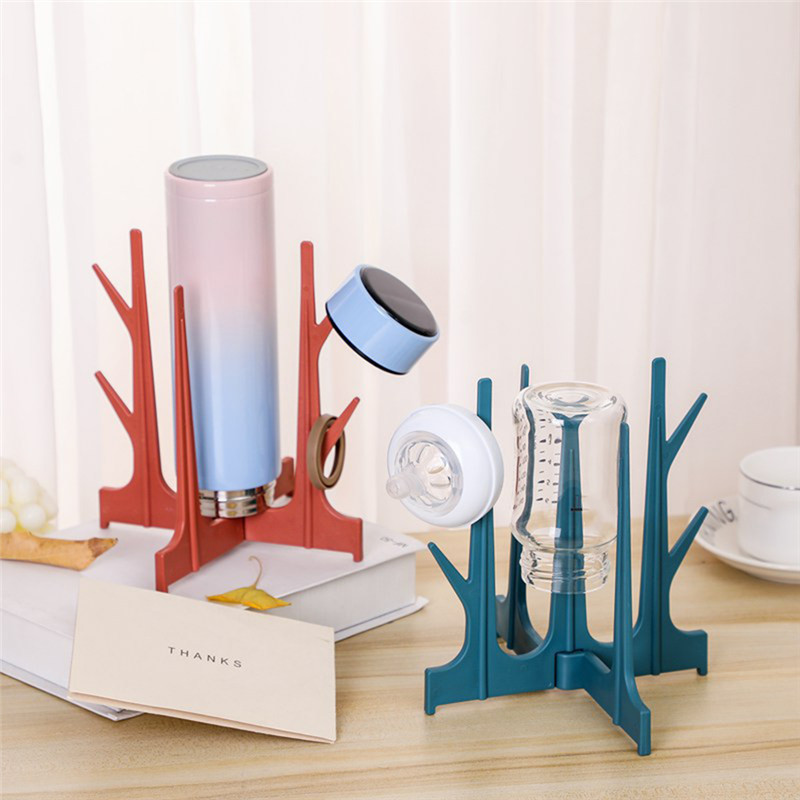 Bottle Drying Rack Baby Feeding Bottles Drain Rack Pacifier Cleaning Dryer Drainer Storage Creative Tree Branch Drying Holder S