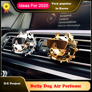 Bulldog Car Air Freshener Car Perfume Fragrance Scent Smell in the Car Styling Car Accessories Ornament for XM3 tesla Diffuser