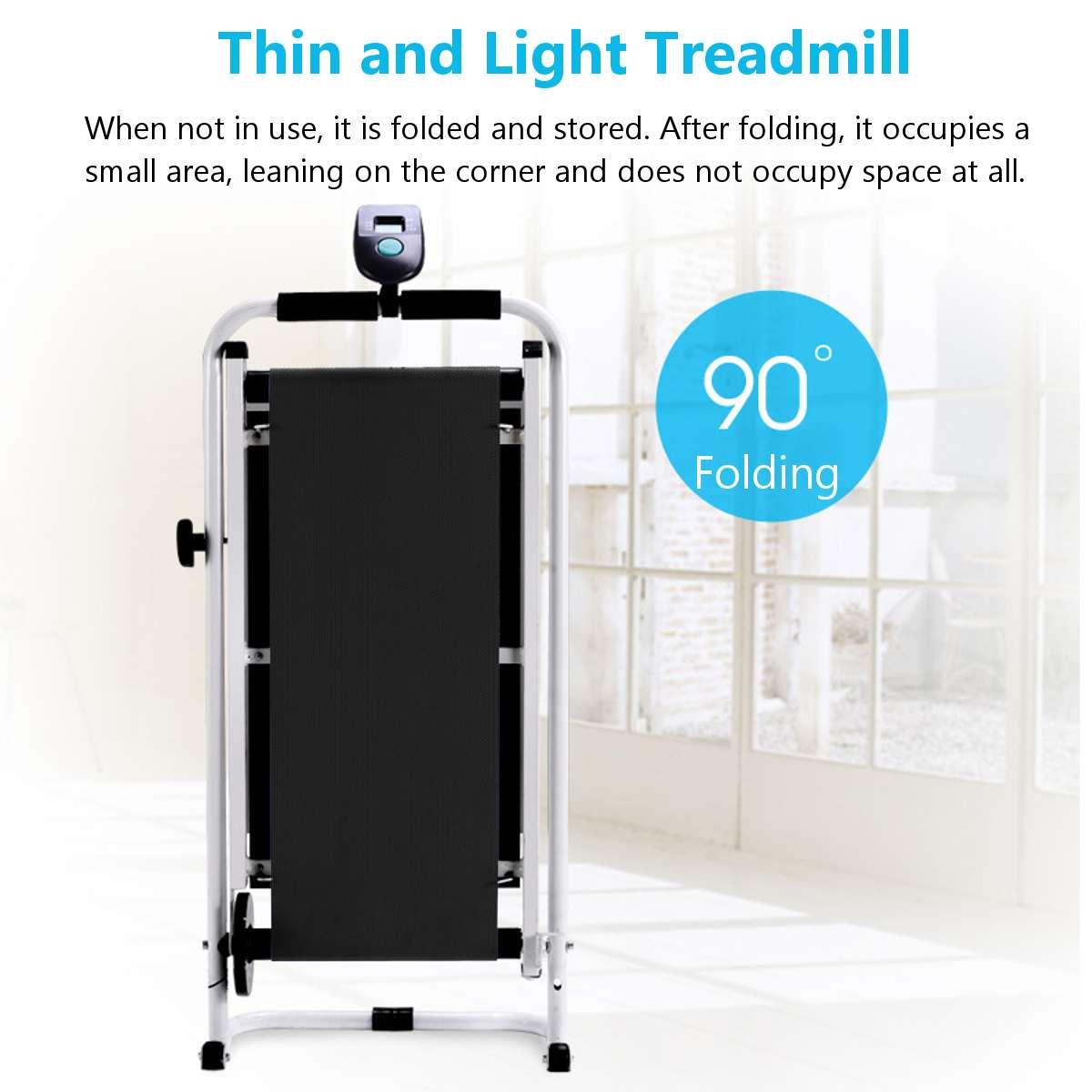 Tapis roulant pliable électrique LED affichage jogging espace marche Machine aérobie Sport Fitness équipement pas d'espace de plancher facile à déplacer - 4