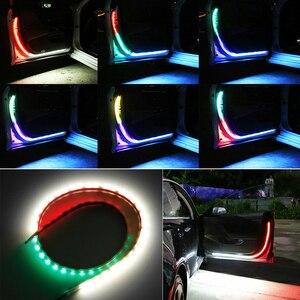 Image 2 - Okeen Cửa Xe Ô Tô Hoan Nghênh Bạn Đã Dải Sáng Kiểu Dáng Xe Tự Động Nhấp Nháy Nhấp Nháy Môi Trường Xung Quanh Bầu Không Khí Đèn An Toàn LED Mở Đèn Cảnh Báo