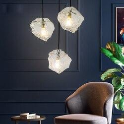 Nowoczesny minimalistyczny żyrandol ice cube osobowość twórcza oświetlenie restauracji salon artystyczna do sypialni szklane okno żyrandol