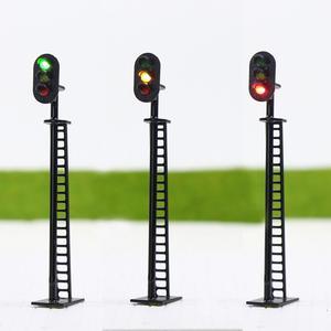 Image 1 - JTD02 5 قطعة إشارات نموذج كتلة السكك الحديدية 3 أضواء أخضر أصفر أحمر إشارة المرور أضواء HO أو OO مقياس 8.3 سنتيمتر 12 فولت Led جديد