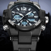 Electronic Wrist Watch Men Digital LED Luxury Shock Watch Military Sport Brand Waterproof Big Face Running Outdoor reloj hombre цена 2017