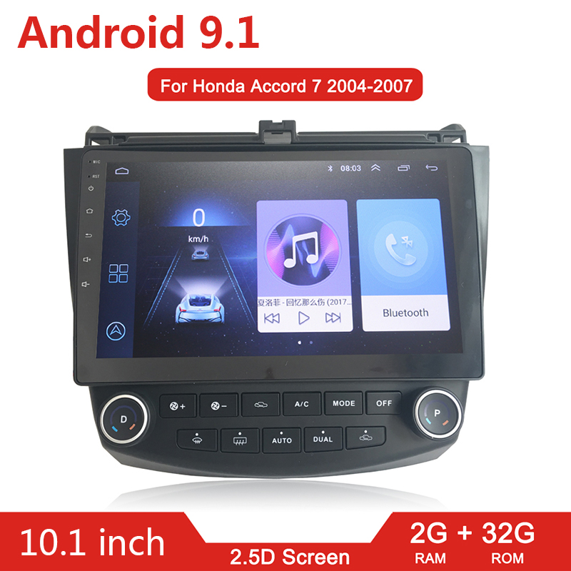 2G + 32G Android 9.1 Auto Radio Multimedia Player Kopf Einheit Für <font><b>Honda</b></font> <font><b>Accord</b></font> 7 <font><b>2003</b></font>-<font><b>2007</b></font> GPS <font><b>navigation</b></font> Autoradio 2 din Wifi keine dvd image