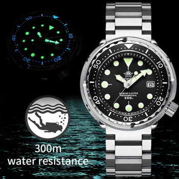 Addies Dive Tuna 300m Diving Watch Automatic Steel Stainless Ceramic bezel NH35 Men's Wristwatch Mechanical Watches Fashion