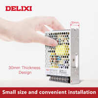 DELIXI ultradünne Transformator Schalt Netzteil DC 5V 12V 18V 24V 48V 35-350w Beleuchtung Transformator Für Led Streifen Licht