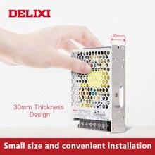 DELIXI ultrathin שנאי מיתוג אספקת חשמל DC 5V 12V 18V 24V 48V 35 350w תאורת שנאי עבור Led רצועת אור