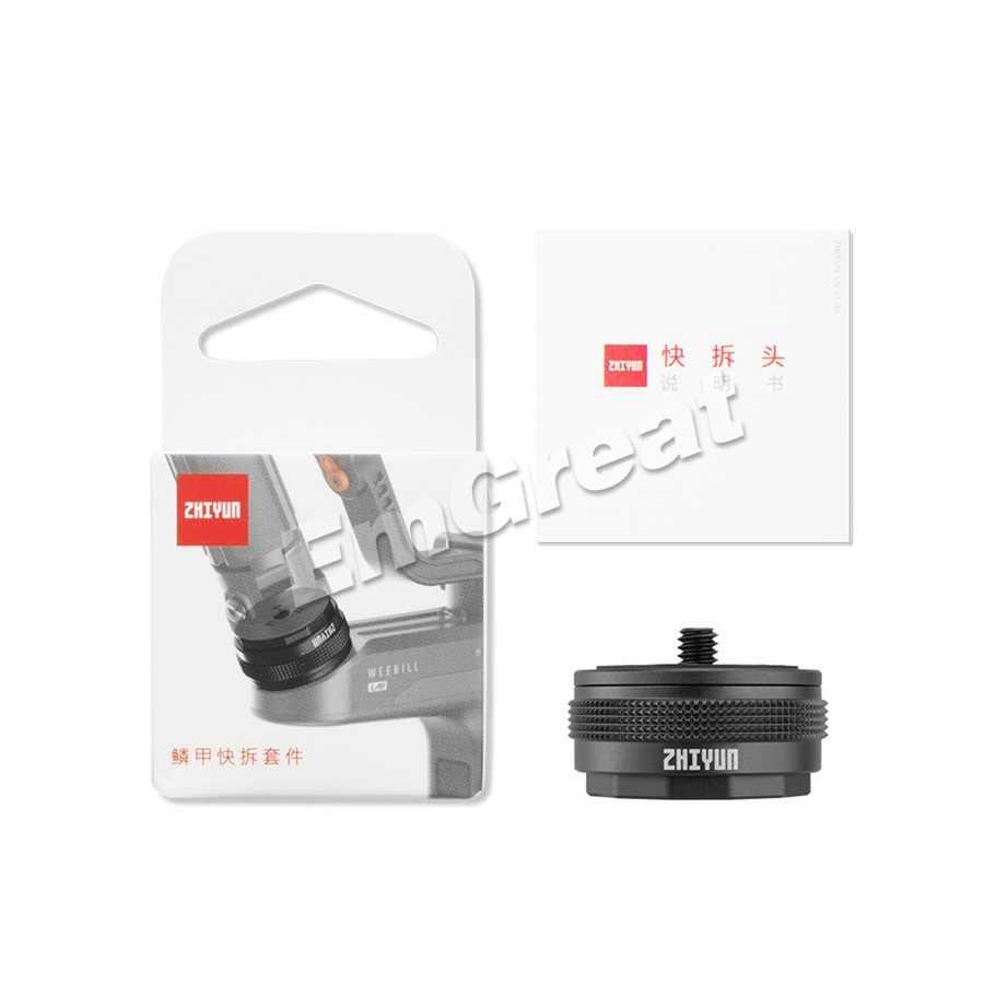 Cardán y trípodes de 1/4 pulgadas de Zhiyun weeill S, accesorios para transmontaje, Kit de instalación de liberación rápida para Zhiyun weeill