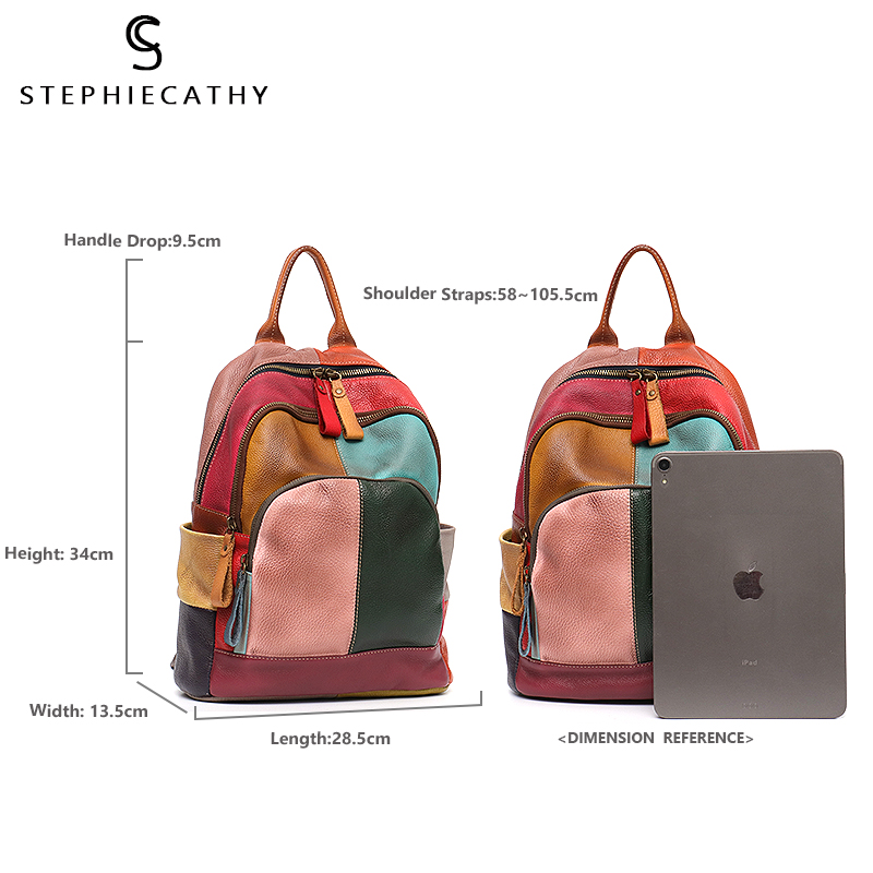 Women Backpack Zip Casual