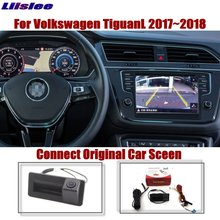 Liislee For Volkswagen TiguanL 2017~2018 Original Car Screen Upgrade Reverse Image Rear Camera Dynamic Trajectory Trunk Handle