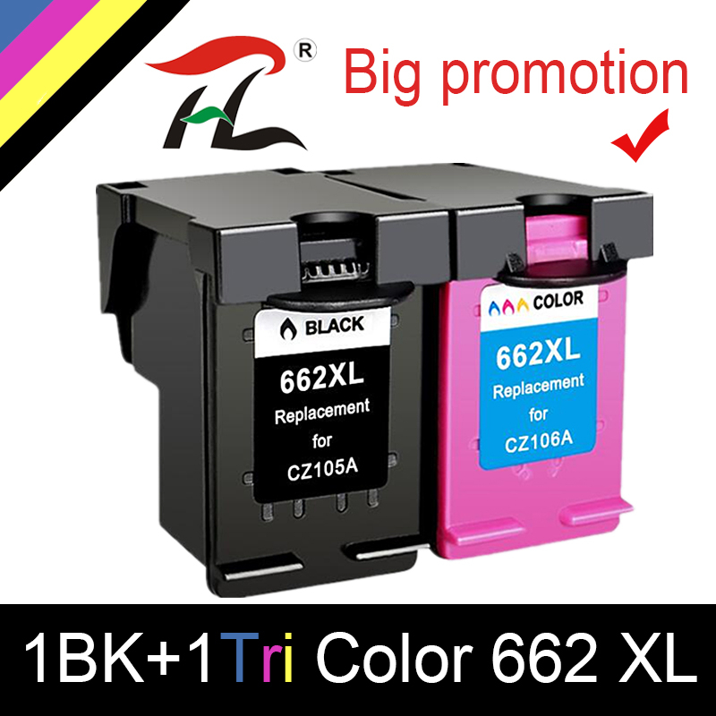 662 Replacement for HP662 <font><b>662XL</b></font> Ink Cartridge for <font><b>HP</b></font> Deskjet 1015 1515 2515 2545 2645 3545 4510 4515 4516 4518 printer image