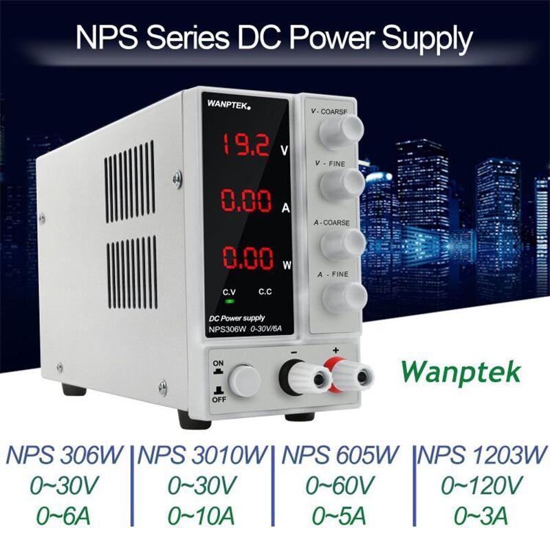 NPS306W alimentation réglable commutation laboratoire tension stabilisateur tension et courant régulateur 30V6A banc Source pour téléphone PC