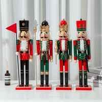 50CM Weihnachten Holz Nussknacker Soldat Schmuck Kinderzimmer Dekoration Ornamente kinder Weihnachten Geschenk Nussknacker Puppe