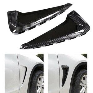 Автомобильный боковой маркер крыло воздуха вентиляционное отверстие Накладка для BMW F15 X5 35I 2014 2015 2016 2017 2018 углеродное волокно стиль ABS с логот...