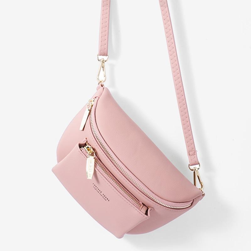 Brand Women's Waist Bag Soft PU Leather Belt Bags Designer Shoulder Messenger Chest Bag Female Fashion Fanny Pack Hip Purse NEW