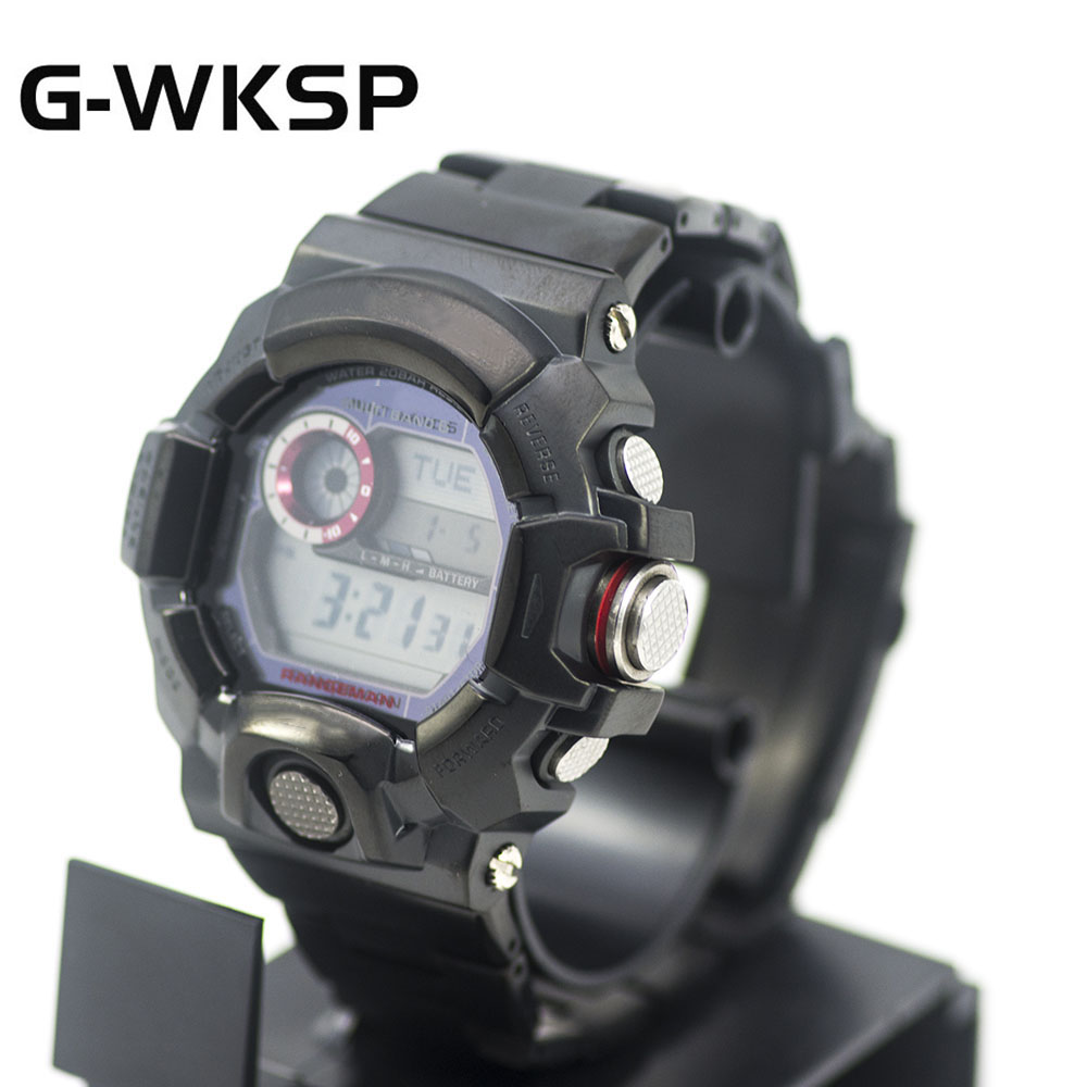 G-WKSP Black Set GW9400 Watchband Strap Modification 100%Metal Stainless Steel Watch Case/Bezel