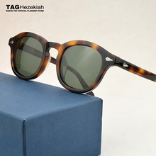 TAG luxury brand designer Polarized Sunglasses Men 2020 Vintage round Sun Glasses Women Driving Retro Acetate Sunglass men UV400