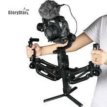 3 Axis Lente Dual Handvat Gimbal Hold Arm Voor Zhiyun Crane 2 Dji Ronin S Moza Aircross Glad 4 Osmo mobiele 2 AK2000 AK4000 BOB2