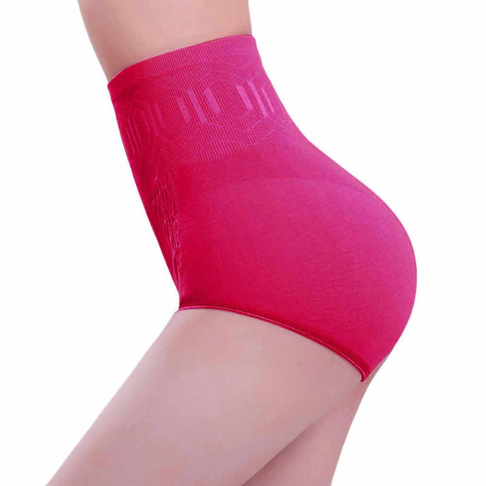 Бесшовное женское корректирующее белье с высокой талией живот для похудения контроль Трусики волшебное Корректирующее белье женское нижнее белье d2