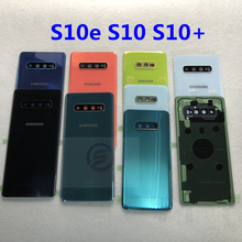 Original Glas Batterie Abdeckung Ersatz Zurück Tür Gehäuse Fall Für Samsung Galaxy S10 Plus S10e S10 S10 + G970 G973 g975 G973F