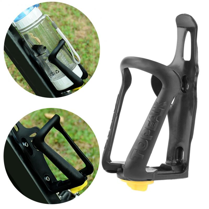 1*Water Bottle Carrier Bicycle Bottle Bracket Sports Cycling Bike Bottle Cage RC Bicycle Plastic Adjustable Bottle Holder Black