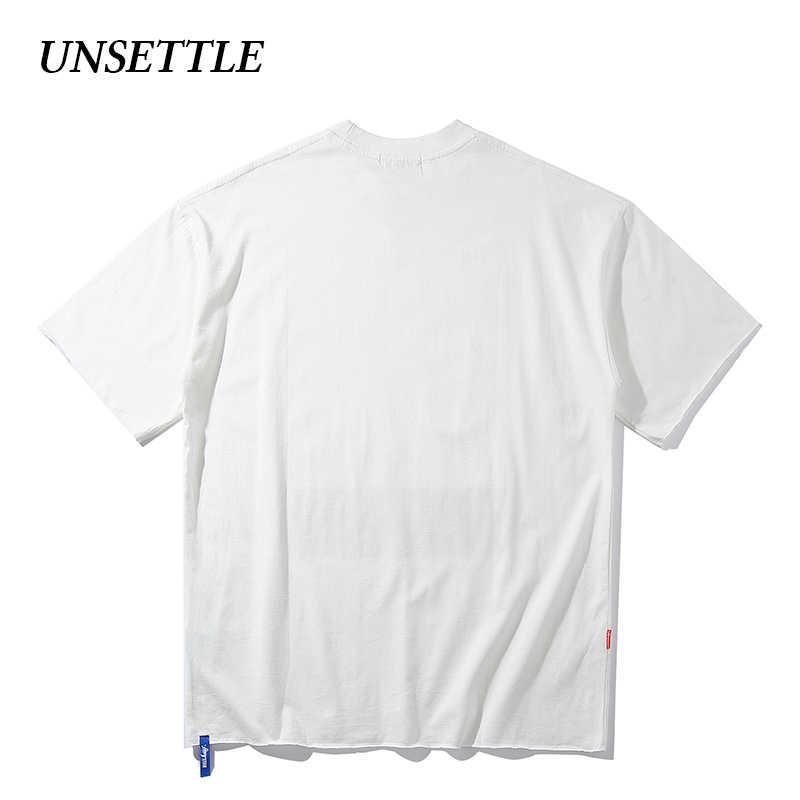 UNSETTLE 2020SS Harajuku t-shirt di Estate Degli Uomini/Donne Hip Hop di Stampa Divertente Parodia pagliaccio Maglietta Streetwear t shirt Manica Corta magliette e camicette