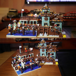 In Stock UG-30101 Old Fishing House Pier Set Compatible 16050 21310 Building Bricks Blocks Moc Toy Child Birthday Gifts