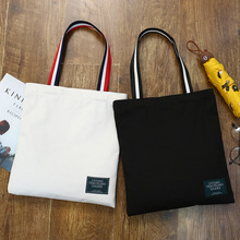 Shopper-Bags Cloth Canvas Reusable Cotton Women Bolsas Shoulder Travel Eco for Sac Ladies