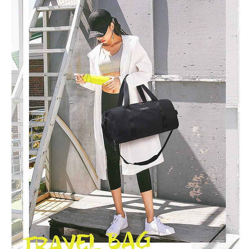 Нейлоновая водонепроницаемая сумка для фитнеса для мужчин и женщин, для сухого влажного разделения, тренировочная сумка, спортивные сумки, портативная вместительная спортивная сумка, обувь, сумка
