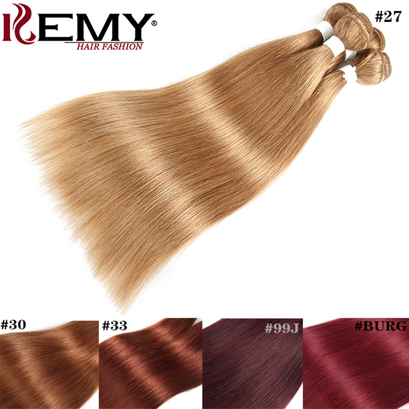 Honey Blond Hair Bundles 8 To 26 Inch Brazilian Straight Human Hair Weave Bundles KEMY HAIR 100% Non-Remy Hair Extensions 1 PCS