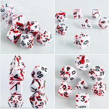 7 шт. крови кубики брызги крови кубики ролевые игровые кубики вечерние поставки кубик для настольной игры вечерние поставки