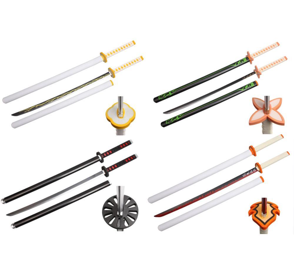 10types New 104cm Demon Slayer PU Sword Weapon Kimetsu no Yaiba Tsuyuri Kanawo Cosplay Sword 1:1 Anime Ninja Knife