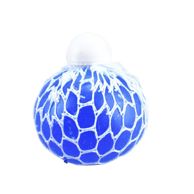 Mesh Balls Fidget Stress Toys Squeezy Gripper Ball For Kids Fun Play High Quality For Durable And Long-lasting Use (Blue)