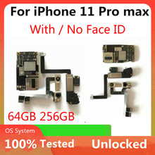 IPhone için ücretsiz kargo 11 Pro Max Unlocked anakart mantık kurulu hiçbir icloud/hiçbir yüz kimliği iphone 11 / 11 pro MB