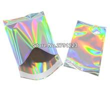100 adet kendini mühür yapıştırıcı kurye çanta lazer holografik plastik poli zarf mailler posta nakliye posta çantaları