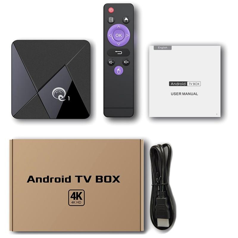 Q1 MINI Smart TV BOX Android 9.0 Youtube 2GB 16GB RK3328 Quad Core 2.4GHz WIFI 4K Google Play Android TV Box EU Plug