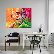 AAHH Big Size Canvas Painting Indian Gandhi Print on Wall Art Picture for Living Room Home Decor No Frame