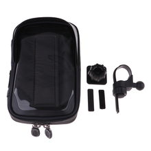 цена на Bike Bag Frame Bicycle Phone Mount Pouch with Waterproof Touch Screen Handlebar Front Phone Holder