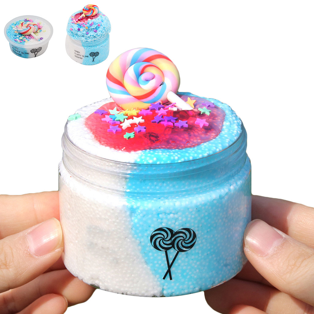 DIY Slime Supplies Candy Kit Cloud Slime Scented Stress Relief Kids Toy Kids Slime Toy Supplies Funny DIY #SS