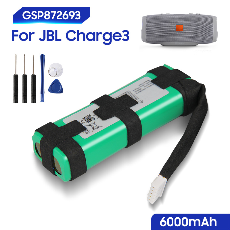 Original Replacement Battery For JBL Charge3 Charge 3 GSP872693 03 GSP1029102A Bluetooth Audio Outdoor Speaker Genuine 6000mAh