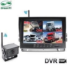 2020 atualização digital sem fio dvr câmera de gravação de backup e 4ch 9 Polegada ahd monitor kit para caminhão/reboque/ônibus/rv/pickups/reboque
