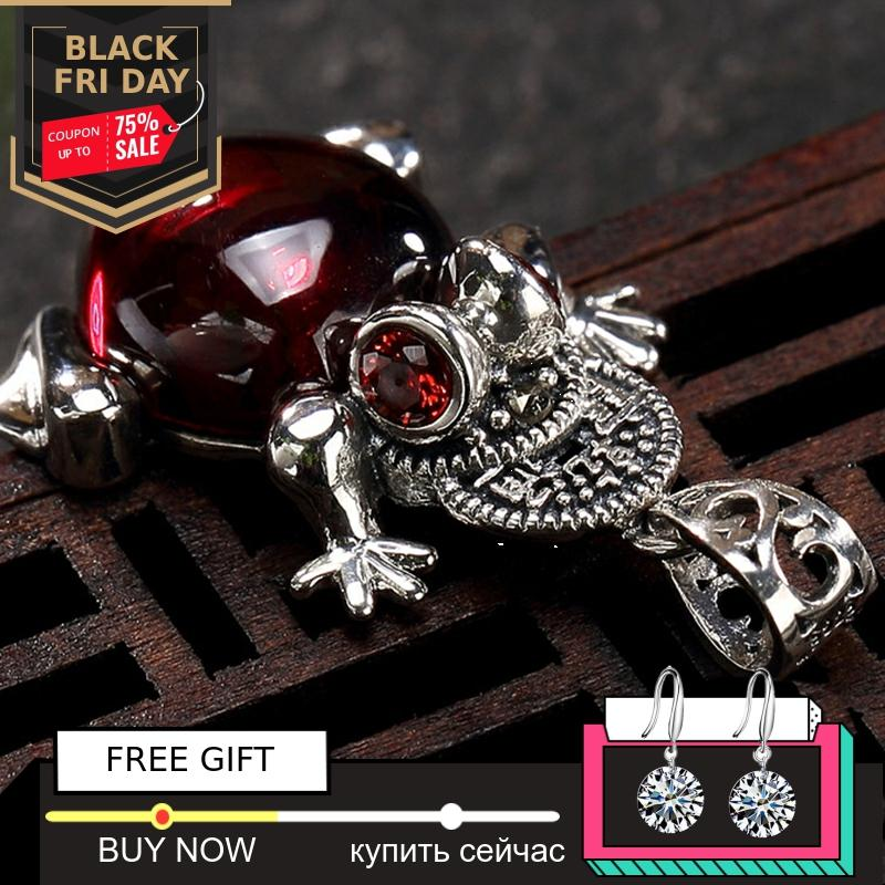 Black Friday NOT FAKE S925 Fine Antique Shop Store Ruby Pendant For Necklace Women Handmade Vintage Carnelian Ruby Red Jasper