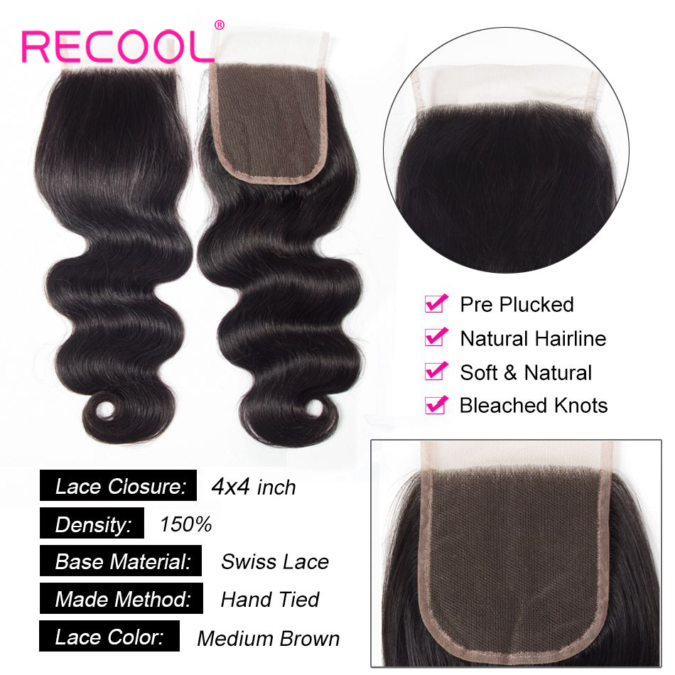 Hc03ba5c20da64472a0c45bf7b6798e1fN Recool Hair Body Wave Bundles With Closure Remy Hair 6x6 and 5x5 Bundles With Closure Peruvian Human Hair 3 Bundles With Closure