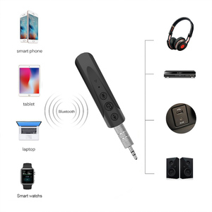 Image 4 - Kebidumei AUX 2018 3.5mm I8 casque Bluetooth sans fil récepteur MP3 lecteur Audio voiture Kit écouteur mains libres avec micro pour téléphone