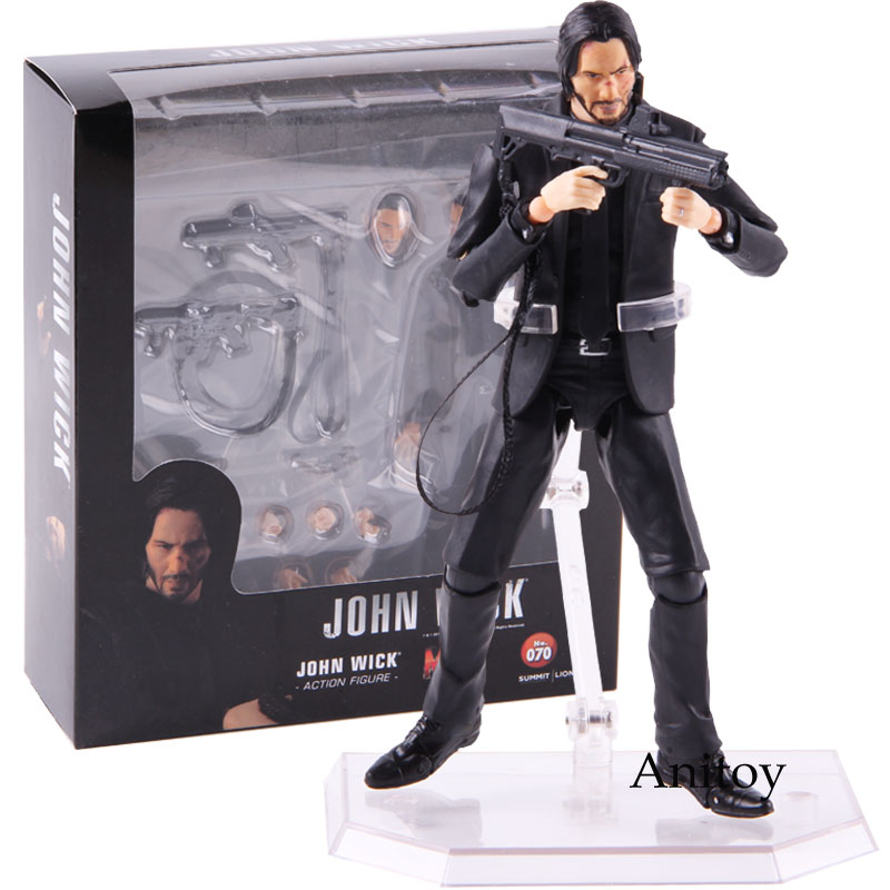 Mafex No. 070 John Wick Keanu Reeves PVC Action Figure Collectible Model Toy